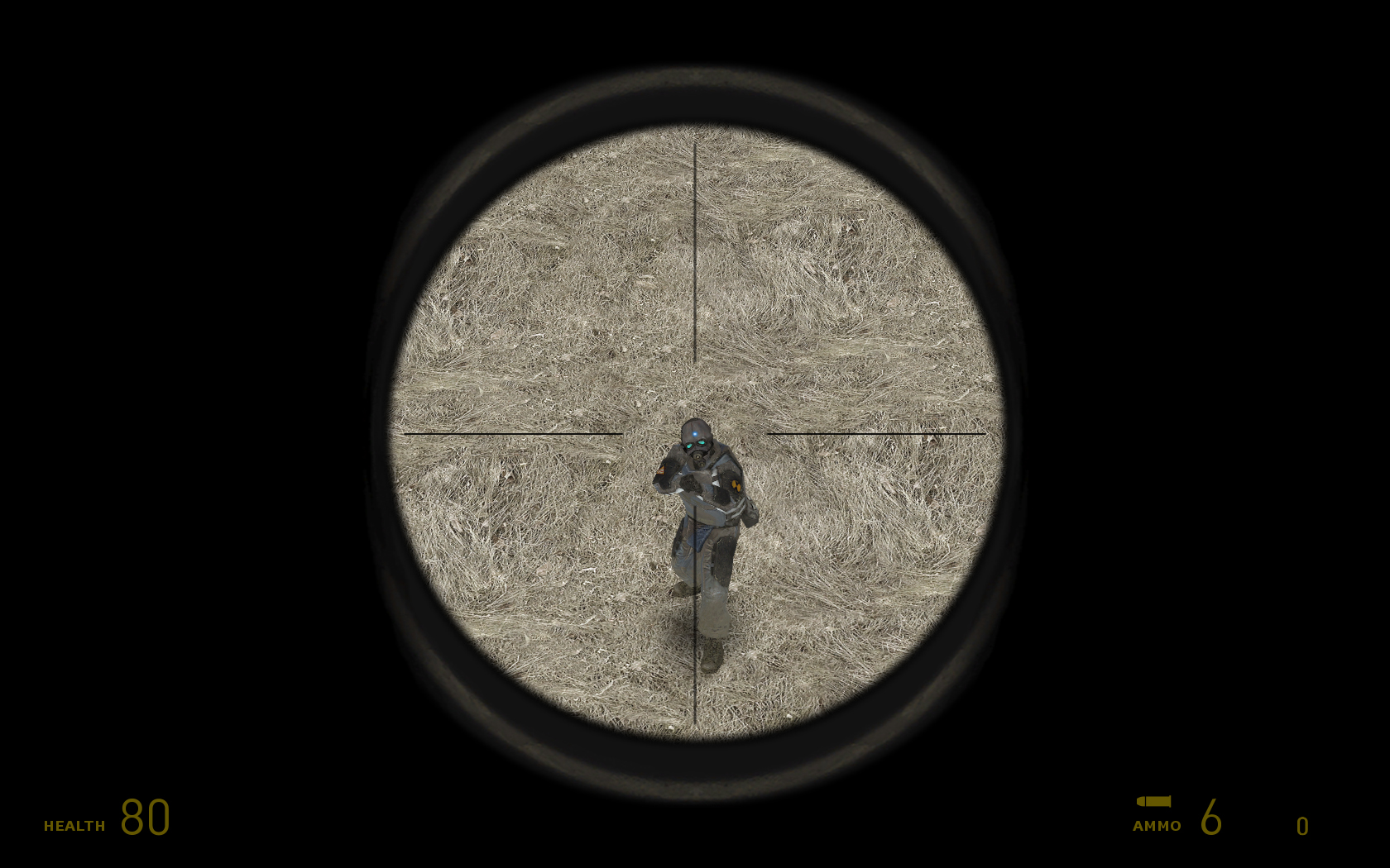 sniper scope crosshairs